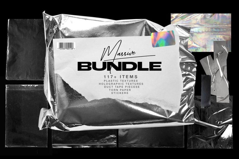 Marie T Plastic Wrap Torn Paper Bundle