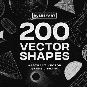 RuleByArt - 200 Vector Shapes