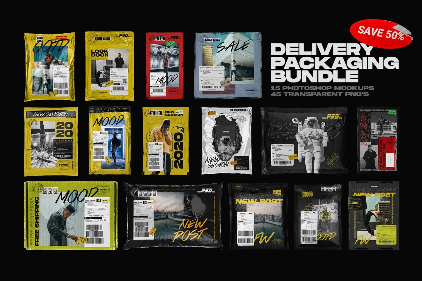 flyerwrk - Delivery Packaging Bundle