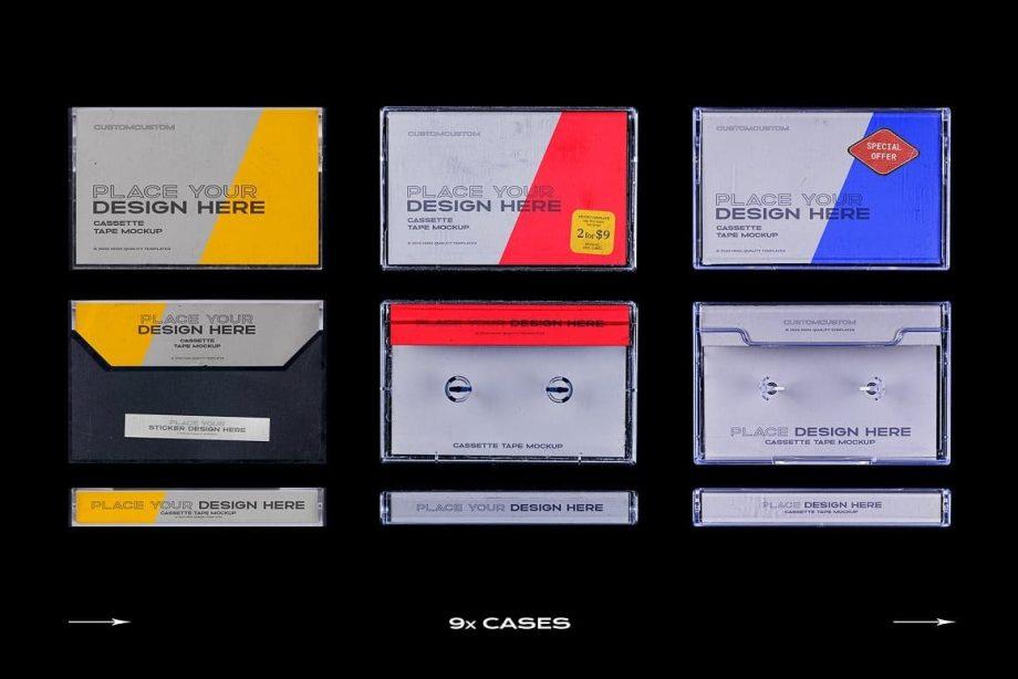PrintPixel Cassette Tape Mockup Bundle Plastic 2