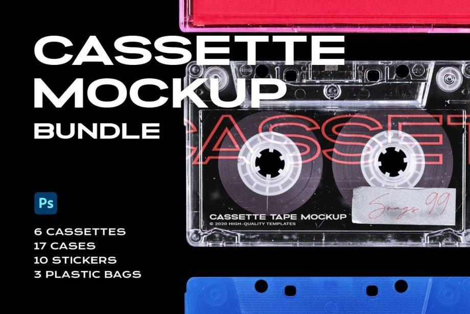 PrintPixel Cassette Tape Mockup Bundle Plastic