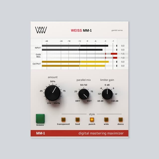 Softube Weiss MM 1 Mastering