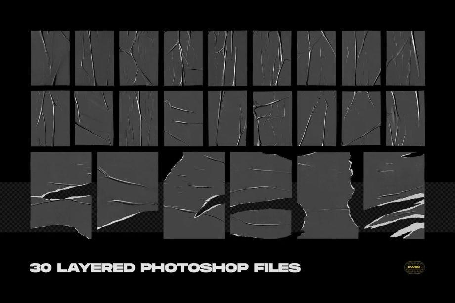 flyerwrk Glued Poster Textures 3