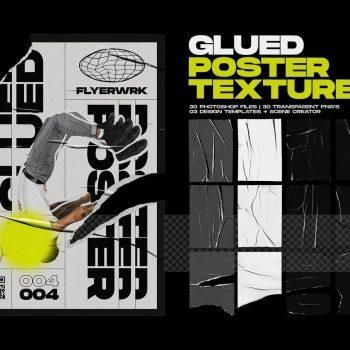 flyerwrk - Glued Poster Textures