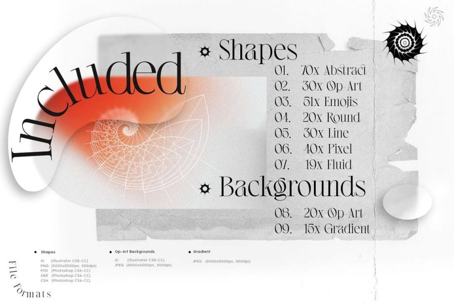 Inartflow - Shapes and Backgrounds Pack