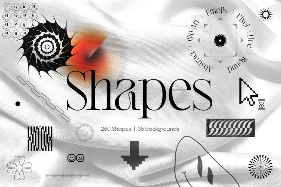 Inartflow Shapes and Backgrounds Pack