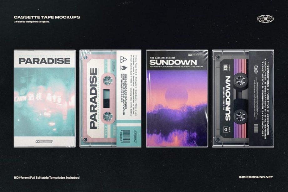 Indieground Design Cassette Tape Mockups 2