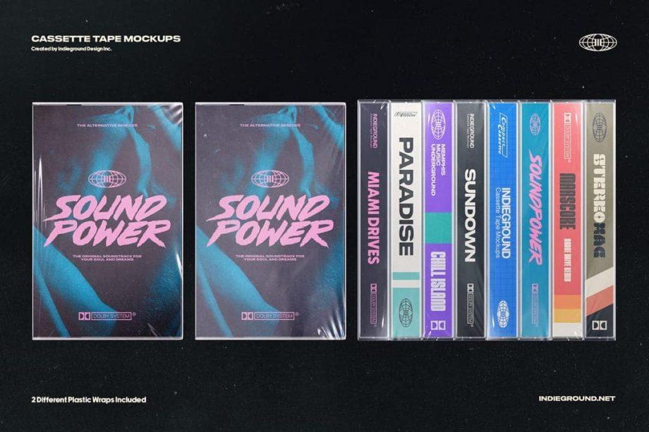 Indieground Design Cassette Tape Mockups 3