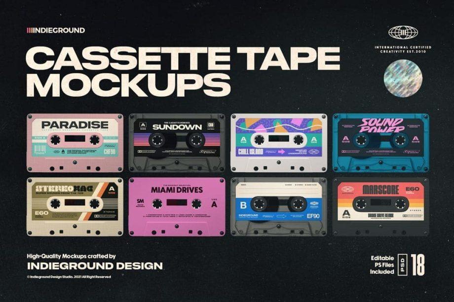 Indieground Design - Cassette Tape Mockups
