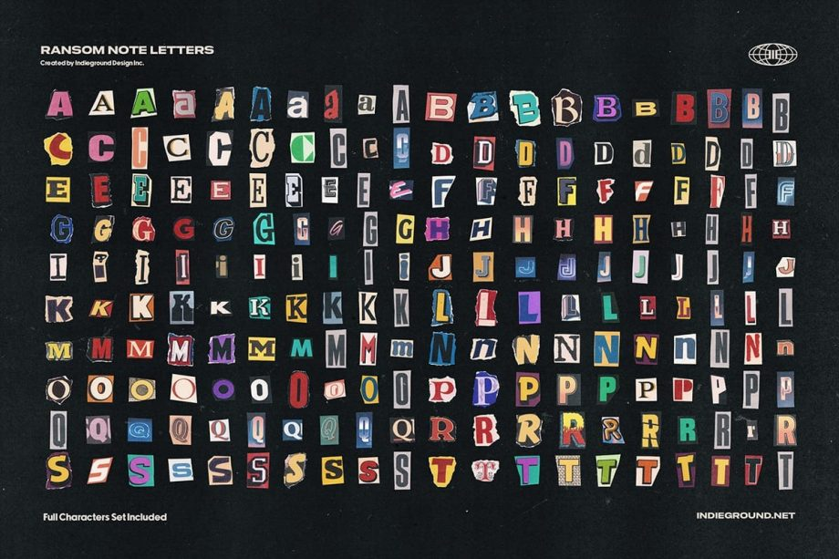Indieground Design Ransom Note Letters 2