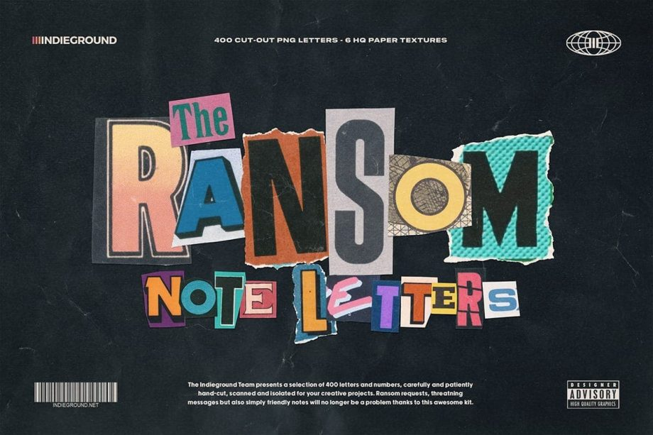 Indieground Design Ransom Note Letters