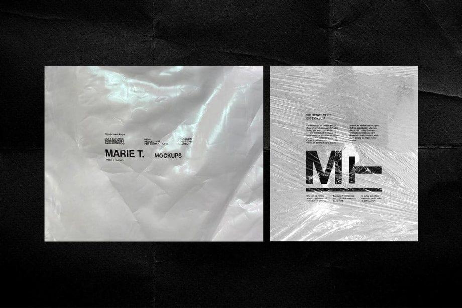 Marie T 30 PSD Plastic Mockup Templates 2