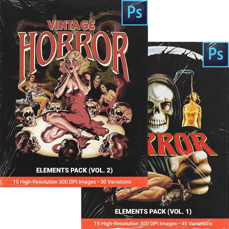 FULLERMOE - Vintage Horror Elements Pack 2-Pack